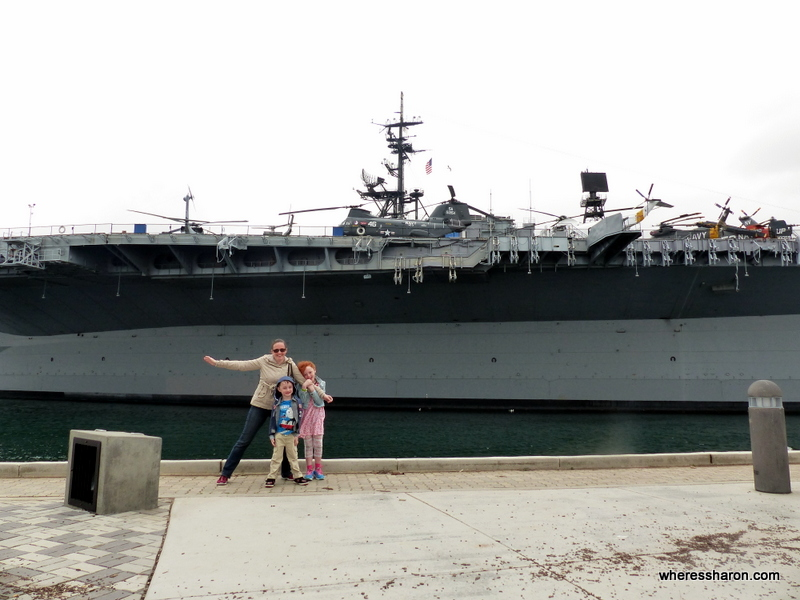 san diego attractions for kids at USS Midway
