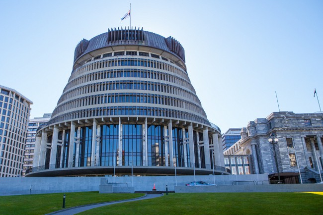 Wellington's famous Beehive building.
