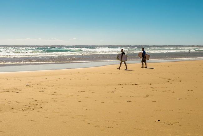 Surfing at Woolamai Beach