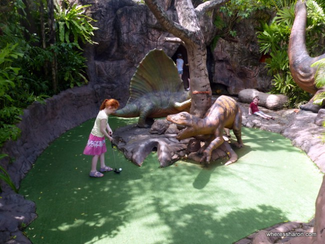 phuket things to do with kids at Dino Park Mini Golf Phuket