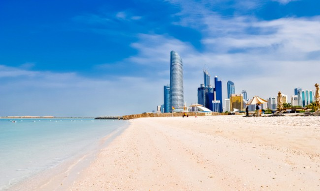 abu dhabi tourist spots at the beach