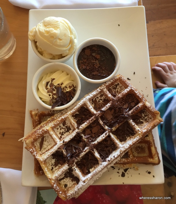 Chocolate Belgian Waffles at house of anvers latrobe devonport
