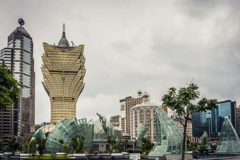 The Grand Lisboa Casino. Supplimenting the original Lisboa, the Grand Lisboa was one of the first of the new mega casinos/resorts. It's a clearly visible Macau point of interest from much of Macau of Taipa.