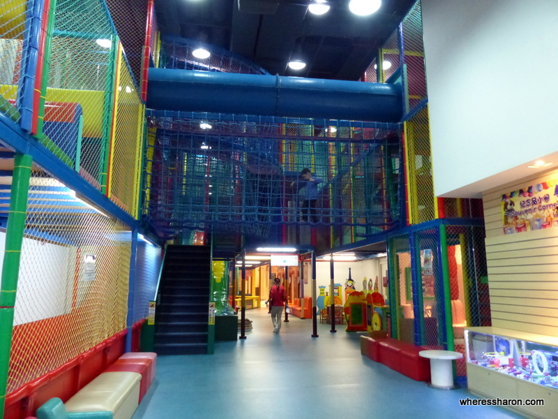 Some of the play equipment in Qube. If you're after things to do in Macau with family then a visit to Qube should be in the frame. Its a place all the family can enjoy together.
