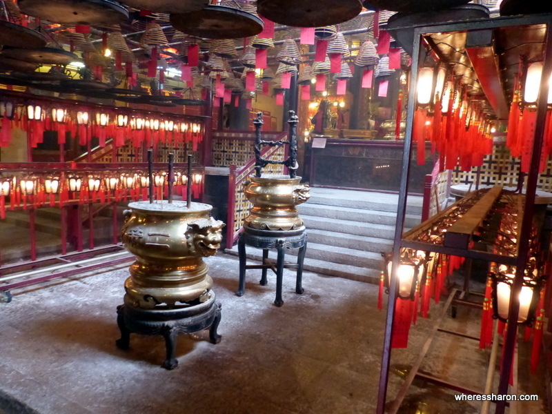 Man Mo Temple hong kong with kids activities