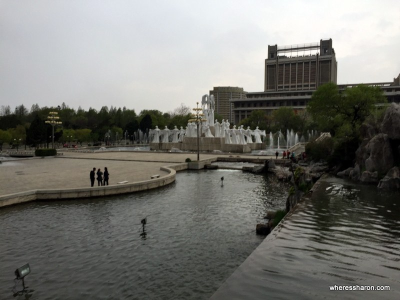 Mansudae Fountain Park north korea places to visit