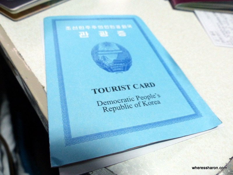 North Korean visa