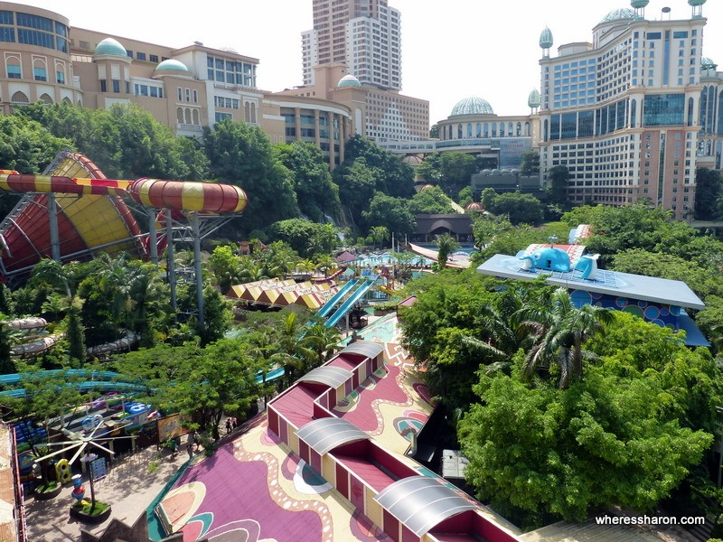 sunway lagoon water park family day from the suspension bridge sunway lagoon