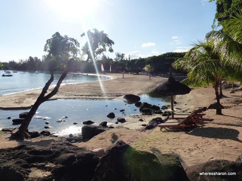beach at Club med Albion Mauritius