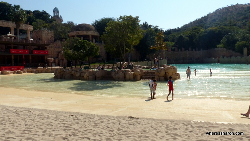 Suncity South Africa activities: the beach of Valley of Waves.